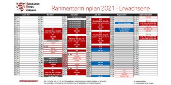 Rahmenterminplan für die Tennis-Medenrunde 2021 veröffentlicht